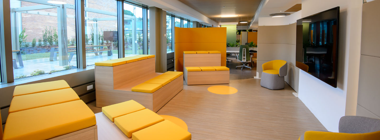 A breakout training space at the ESA client office