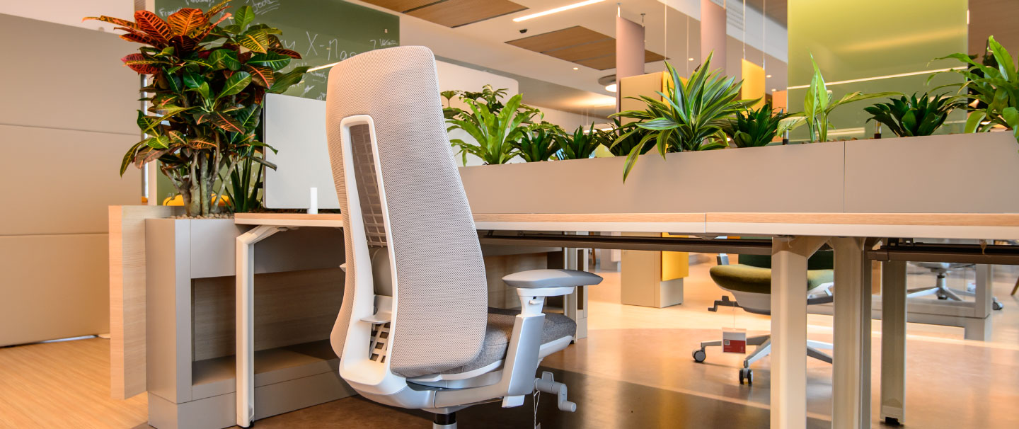 Fern chair and Epure desks at the ESA client office