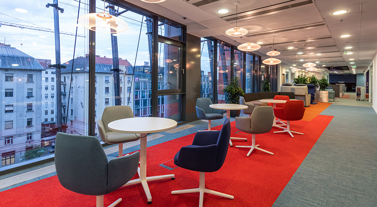 Acoustics was an important part of the focus as well as creating colourful, cheerful collaboration areas.