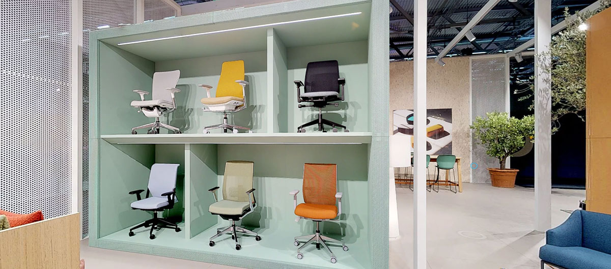 Seating display, featuring the Best in Class from our international portfolio.