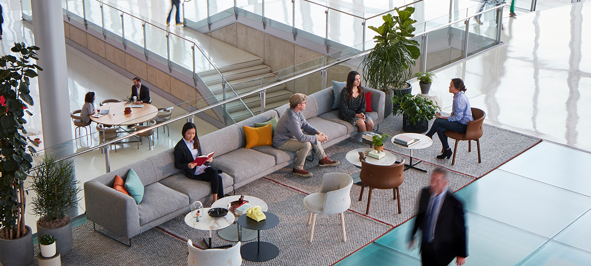 Reception areas can promote a warm and inviting culture within the workplace for both employees and visitors. Selecting the appropriate furniture pieces, as well as other soft elements such as rugs, pillows, and foliage can elevate a first impression.
