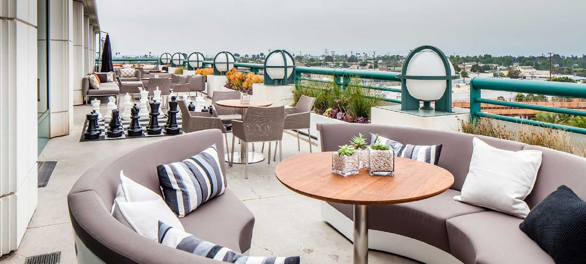 The outside patio allows employees to soak up the California sun in this unique space while discussing that next great idea.