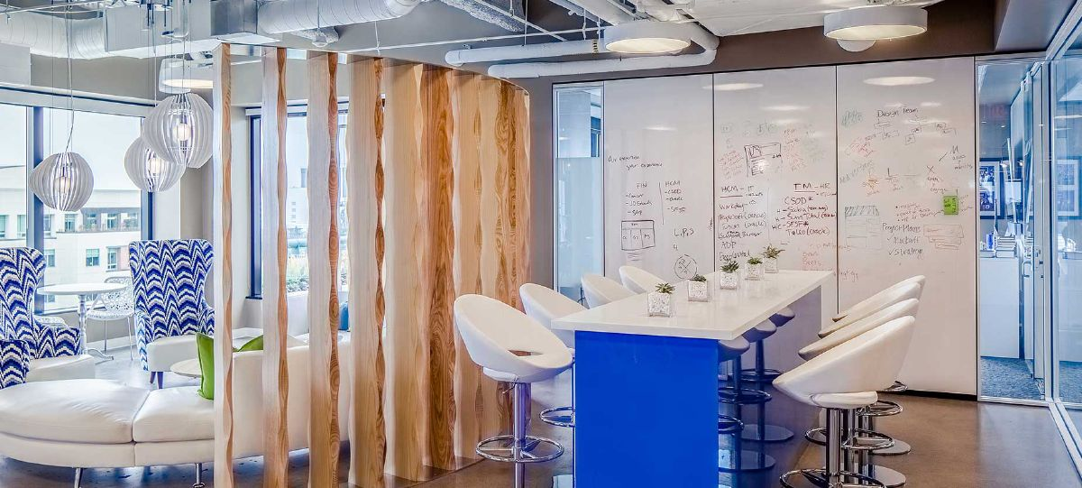 Cornerstone OnDemand's Santa Monica based headquarters, which was designed by SKIN, enables people to create and innovate.
