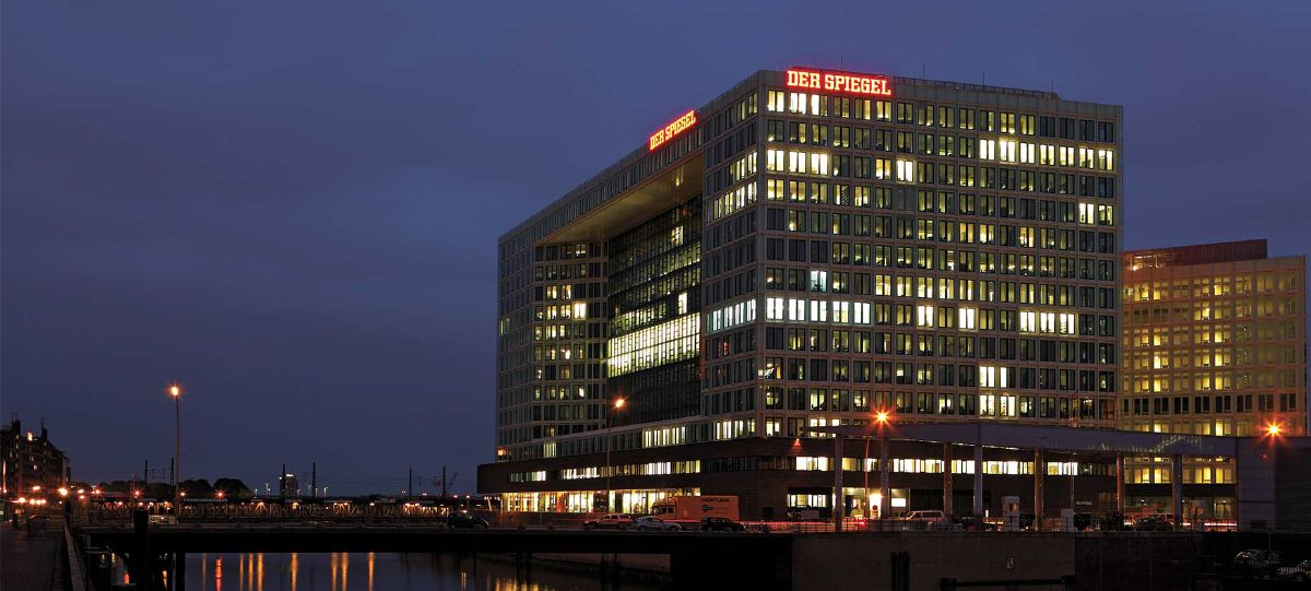 "The Spiegel Group are the publishers of ""Der Spiegel"" newspaper, 'Spiegel-Online' and the 'Manager magazine'. They have moved into one of the most modern media buildings in Europe, located in Hamburg, Germany."
